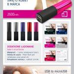 Power Bank 2600 mAh Color Rosa Lipstick Platinet