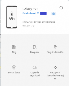 Localiza mi movil samsung, Find my mobile en ZYFE